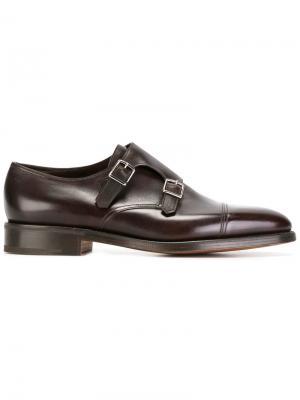 Классические туфли-монки John Lobb. Цвет: коричневый