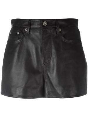 Кожаная мини-юбка Ck Jeans. Цвет: чёрный