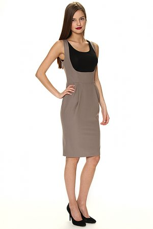 Платье Levall. Цвет: бежевое