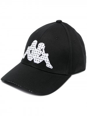 Кепка с вышитым логотипом Kappa. Цвет: черный