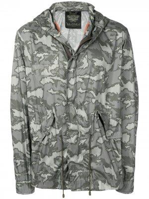 Куртка-дождевик с камуфляжным принтом Mr & Mrs Italy. Цвет: зеленый