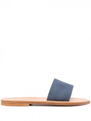 Мюли с открытым носком K. Jacques. Цвет: синий