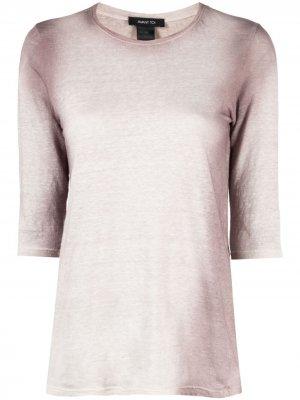 Топ с длинными рукавами и эффектом градиента Avant Toi. Цвет: розовый