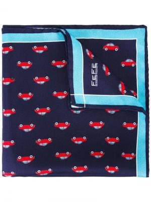 Нагрудный платок с принтом машин Fefè. Цвет: синий