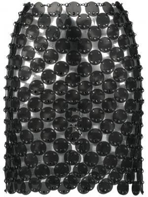 Chainmail mini skirt Paco Rabanne. Цвет: серый