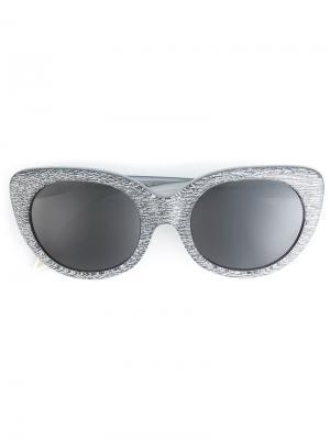 Солнцезащитные очки с оправой кошачий глаз Victoria Beckham. Цвет: золотистый
