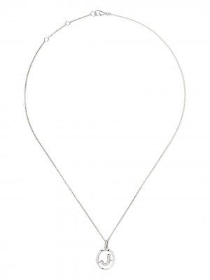 Золотое колье с подвеской J и бриллиантами Annoushka. Цвет: белый