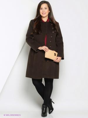 Пальто Anora. Цвет: коричневый