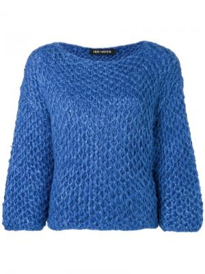Chunky knitted jumper Iris Von Arnim. Цвет: синий