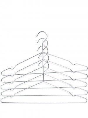 Комплект вешалок для одежды Hay. Цвет: серебристый