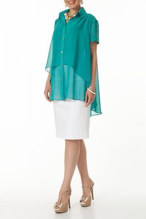 Блузка Argent. Цвет: зеленый
