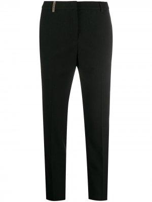 Укороченные брюки кроя слим Peserico. Цвет: черный