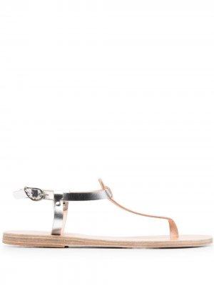 Сандалии Lito с эффектом металлик Ancient Greek Sandals. Цвет: серебристый