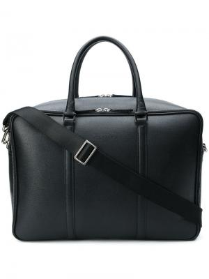 Double top zip holdall Canali. Цвет: черный