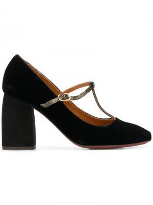 Туфли-лодочки с T-образным ремешком Chie Mihara. Цвет: черный