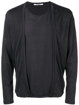 Layered longsleeved T-shirt Chalayan. Цвет: черный