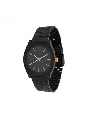 Часы Time Teller 37 мм Nixon. Цвет: черный