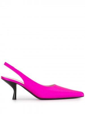 Туфли Bourgeoise с ремешком на пятке The Row. Цвет: розовый