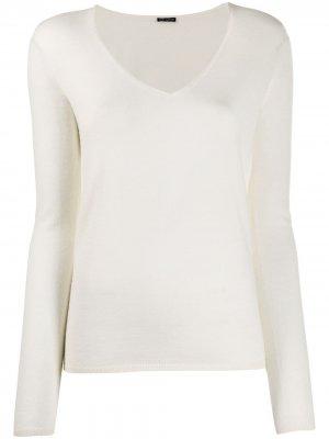 Приталенный пуловер с V-образным вырезом Iris Von Arnim. Цвет: нейтральные цвета