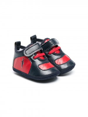 Кроссовки на липучках Cesare Paciotti 4Us Kids. Цвет: синий