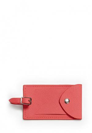 Ярлык для багажа Mango. Цвет: розовый