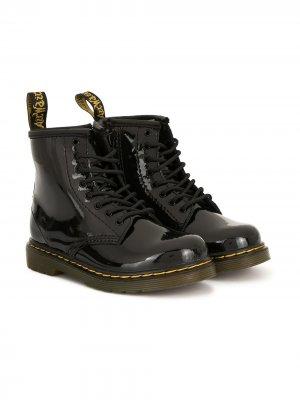 Ботинки на шнуровке Dr. Martens Kids. Цвет: черный