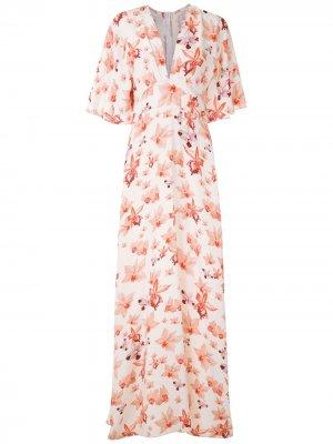 Платье Ana Maria с принтом Isolda. Цвет: белый