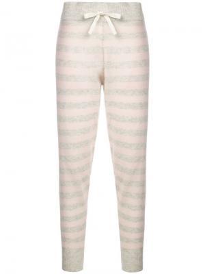 Пижамные брюки Hailey Morgan Lane. Цвет: белый