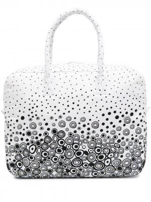 Дорожная сумка с графичным принтом 10 CORSO COMO. Цвет: белый