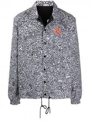 Двусторонняя куртка Mr Doodle Puma. Цвет: белый
