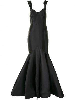 Платье макси с расклешенным подолом Jovani. Цвет: черный