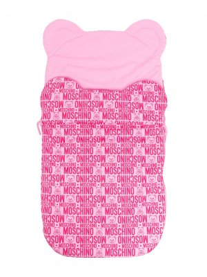 Конверт для новорожденного Teddy Bear с логотипом Moschino Kids. Цвет: розовый