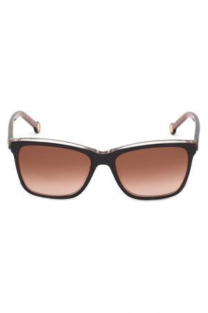 Солнцезащитные очки Carolina Herrera. Цвет: коричневый