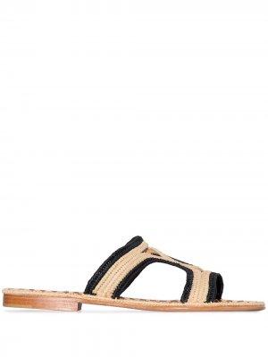 Двухцветные сандалии Moha Carrie Forbes. Цвет: черный