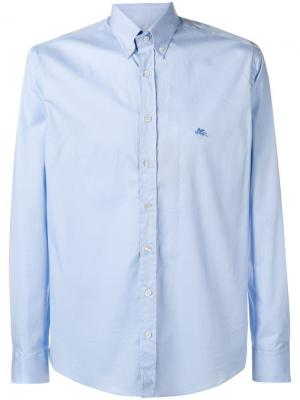 Повседневная приталенная рубашка Etro. Цвет: синий