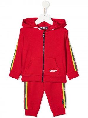 Спортивный костюм с логотипом Cesare Paciotti 4Us Kids. Цвет: красный