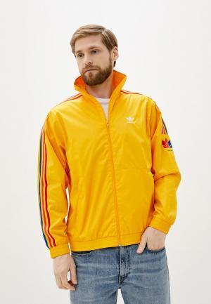 Олимпийка adidas Originals. Цвет: желтый