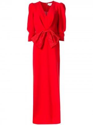 Платье Chelsea с бантом Sachin & Babi. Цвет: красный