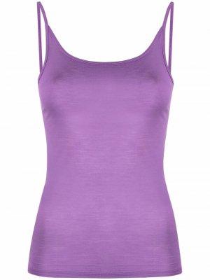 Scoop neck top Baserange. Цвет: фиолетовый