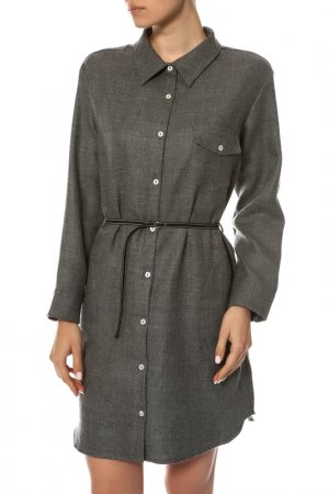 Платье-рубашка Tsunoda. Цвет: серый