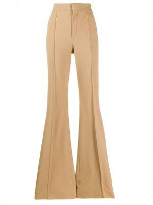 Расклешенные брюки Chloé. Цвет: нейтральные цвета