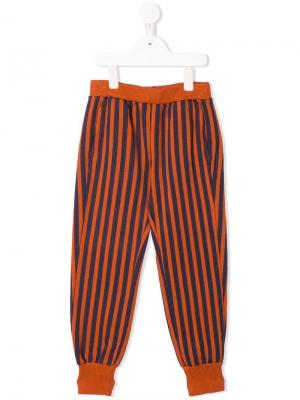 Striped tapered trousers Bobo Choses. Цвет: желтый