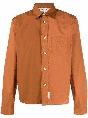 Рубашка с длинными рукавами Marni. Цвет: оранжевый