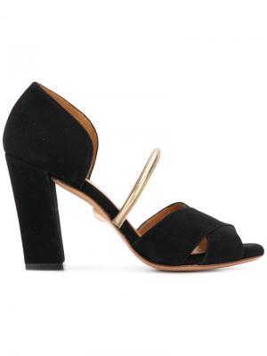 Туфли с открытым носом и устойчивым каблуком Chie Mihara. Цвет: черный