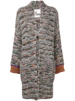 Вязаное пальто 8pm. Цвет: черный