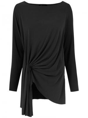 Блузка Mal с плиссировкой Uma | Raquel Davidowicz. Цвет: черный