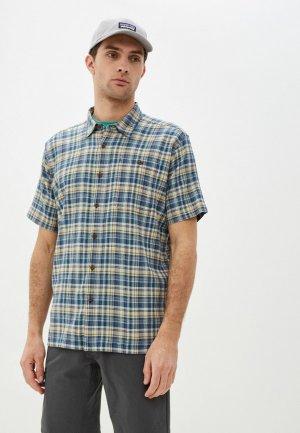 Рубашка Patagonia. Цвет: синий