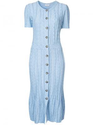 Трикотажное платье Abelia Altuzarra. Цвет: синий