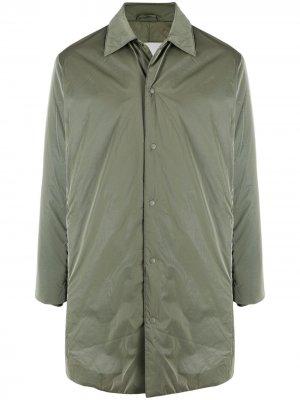 Пальто на кнопках Rains. Цвет: зеленый