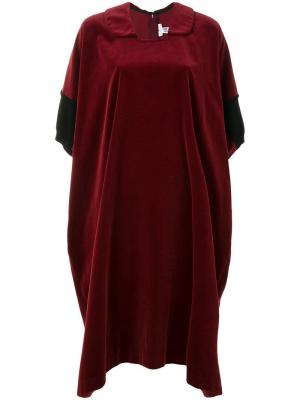 Платье-рубашка оверсайз Comme Des Garçons Pre-Owned. Цвет: красный